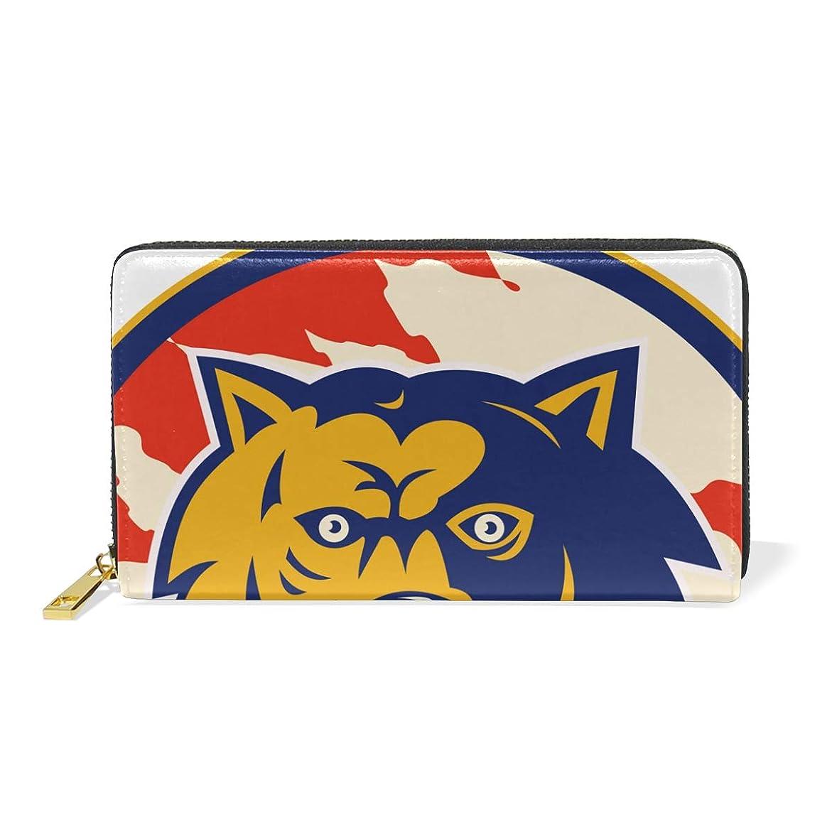 咽頭に関してレディAyuStyle 長財布 財布 おおかみ オオカミ 狼 ウルフ カッコイイ 大容量 高品質 多機能 ラウンドファスナー ウォレット レディース メンズ レザー 二つ折り財布
