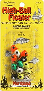 Northland Tackle FJT1-4-99 High-Ball Floater Neon #1 4/Cd High-Ball Floater Neon #1, Assorted