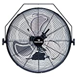 Tornado - 20 Inch High Velocity Industrial Wall Fan - 4750 CFM - 3 Speed - 6 FT Cord - Industrial, Commercial, Residential Use - UL Safety Listed