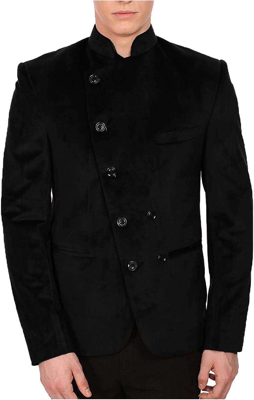 JEXJ Nehru Blazers for Men Fashion Casual Mandar Velvet Slim 40% OFF Cheap Sale price Sale Fit