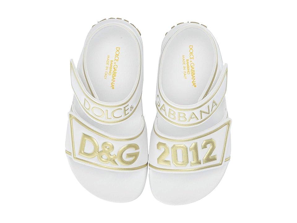 Dolce & Gabbana Kids Strap Sandals (Little Kid/Big Kid) (White/Gold) Boy