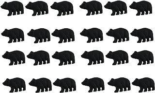 Matte Black Cast Iron Forest Bear Drawer Cabinet Pull Set of 24