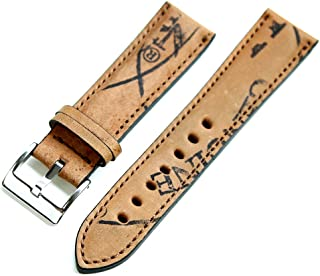cc389cda1d4 FLUCO Horween Shell Cordovan Reversed Leather Watch Strap  Brown