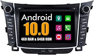 Roverone Android System 7 Zoll Doppel DIN Autoradio GPS für Hyundai i30 2012 2013 2014 mit Navigation Radio Stereo DVD Bluetooth SD USB Touch Bildschirm