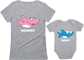Matching Shark Shirts for Mommy and Baby Set for Mother and Baby Outfits Gift