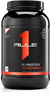 R1 Protein Whey Isolate/Hydrolysate, Rule 1 Proteins (38 Servings, White Chocolate Raspberry)