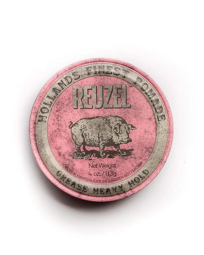 彼らのもの誕生注入するルーゾー ピンク ヘヴィーホールド ポマード Reuzel Pink Heavy Hold Grease pomade 113 g [並行輸入品]