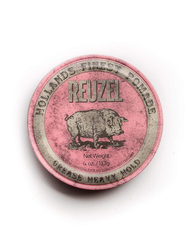 ツールコンサートドリルルーゾー ピンク ヘヴィーホールド ポマード Reuzel Pink Heavy Hold Grease pomade 113 g [並行輸入品]