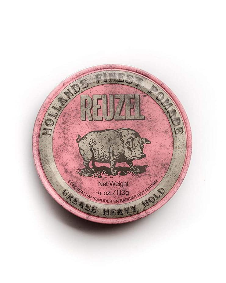 そこから安らぎの間でルーゾー ピンク ヘヴィーホールド ポマード Reuzel Pink Heavy Hold Grease pomade 113 g [並行輸入品]