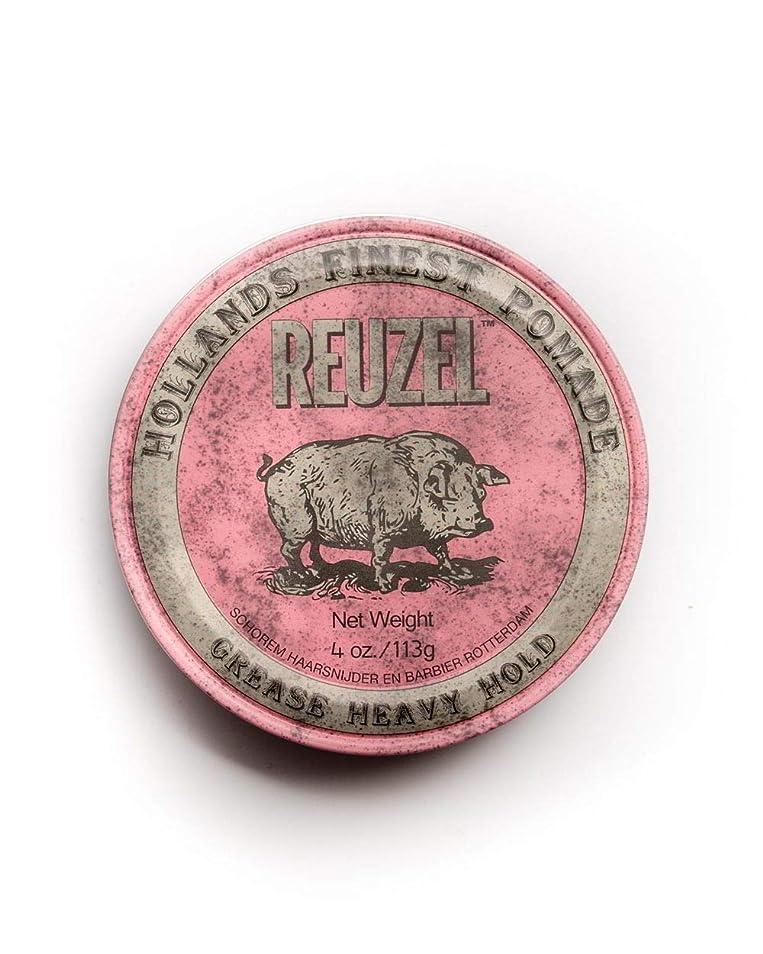 博物館子音アトミックルーゾー ピンク ヘヴィーホールド ポマード Reuzel Pink Heavy Hold Grease pomade 113 g [並行輸入品]