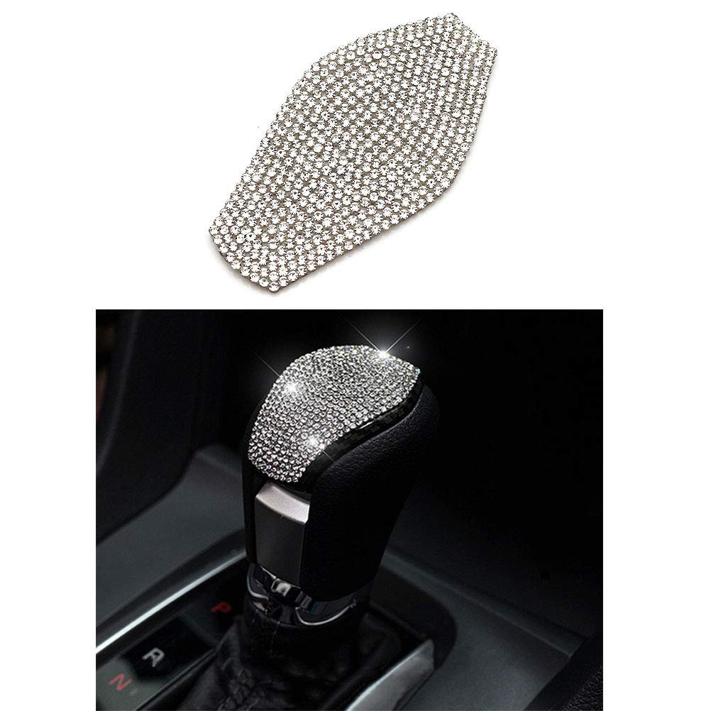 Gear Shift Knob Thor-Ind Bling Car Gear Shift Knob Cover Trim Crystal Diamond Accessory Fit for Honda Civic 2016-2020