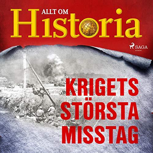 Krigets största misstag audiobook cover art