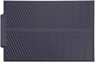 BESTT Silicone Drain Mat - Rectangle Drying Dishes Pad Heat Resistant Slip-Proof Tray (Gray)