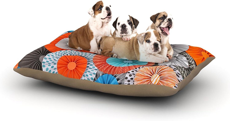 Kess InHouse Heidi Jennings Breaking Free  orange bluee Dog Bed, 30 by 40Inch