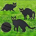 Dodosky Halloween Decorations, 3Pcs Black Cat Decorations Halloween Decorations Clearance Outdoor Halloween Decorations Halloween Cats Decorations Halloween Yard Decorations - Halloween Decor