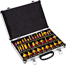 Tungsten Carbide Router Bits, 35pcs Set 1/2 Inch Shank Milling Cutter Woodworking Router Drill Bit Kit With Carrying Case