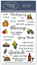 Happy Thanksgiving Clear Stamps   Photopolymer Stamps - Clear Rubber Stamps   Stamps for Card Making   Scrapbooking Stamps