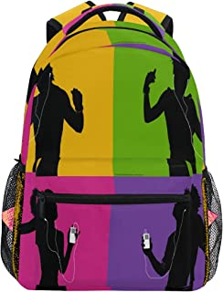 Women/Man Canvas Backpack Special Mucical And Dancing Zipper College School Bookbag Daypack Travel Rucksack Gym Bag For Youth