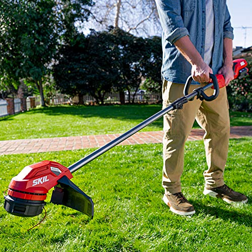SKIL LT4818-10 CORE 40 14-Inch Brushless 40V String Trimmer Kit Includes 2.5Ah Battery and Auto PWR Jump Charger, Red