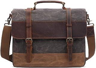 LIUFULING Vintage Men's Canvas Messenger Bag Hiking Durable Crossbody Shoulder Bag Stylish Satchel to 15.6 inch Laptop (Color : Gray, Size : OneSize)