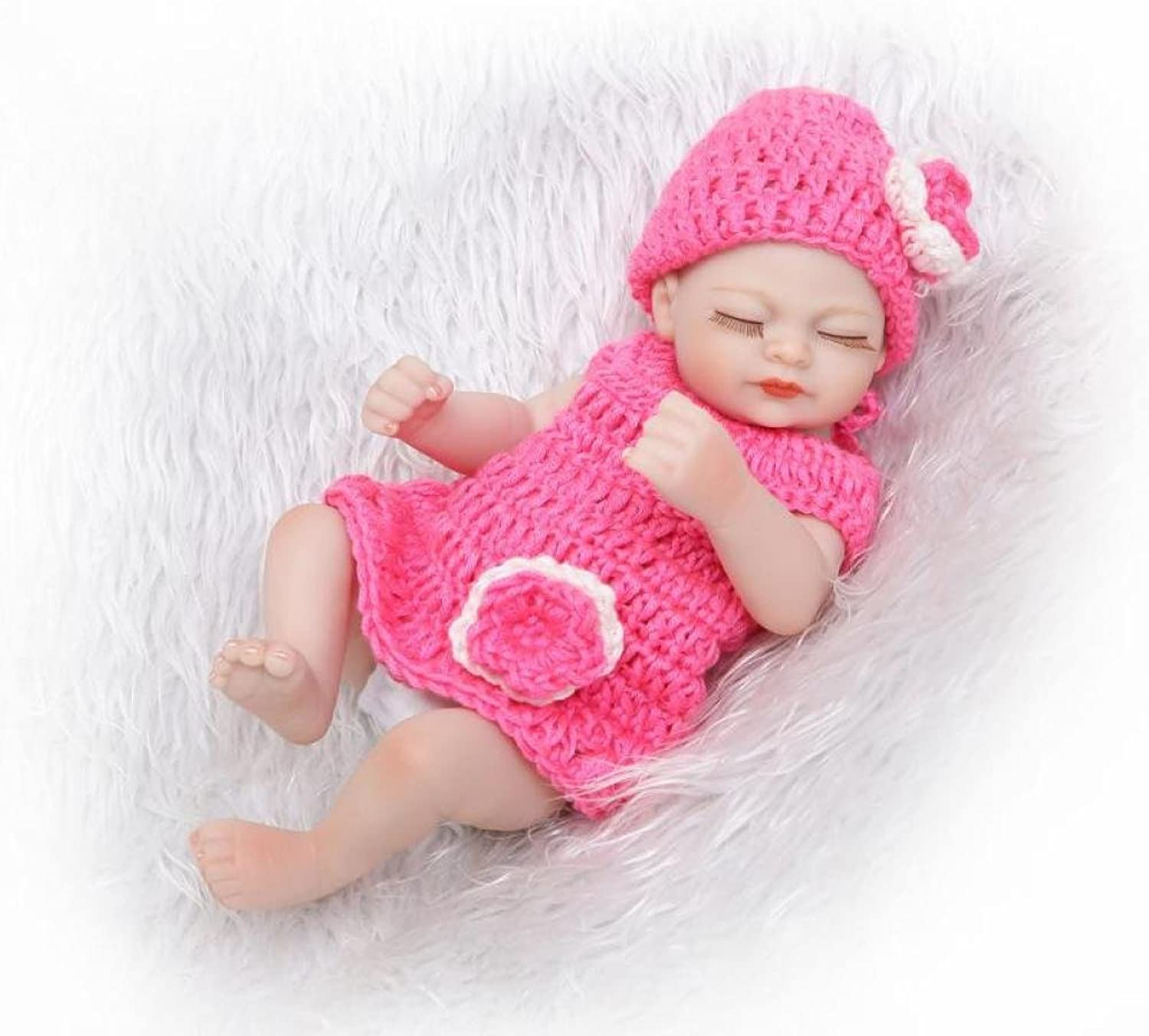 Baby Rebirth Doll Silicone 10 inch 26cm Waterproof Toy Sweater Girl Reborn Baby Doll