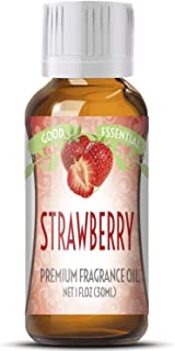 Strawberry Scented Oil by Good Essential (Huge 1oz Bottle - Premium Grade Fragrance Oil) - Perfect for Aromatherapy, Soaps, Candles, Slime, Lotions, and More!
