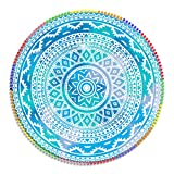 DHESTIA HOME DhestiaHome Viana Toalla Mandala Redondo, Microfibra, 160 cm, Multicolor