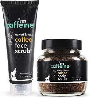 mCaffeine Coffee Exfoliation & Tan Removal Combo | Body Scrub, Face Scrub | Oily/Normal Skin | Paraben & SLS Free