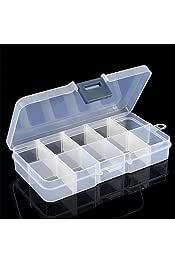 Transparente ESjasnyfall 28 Compartimento de Rejilla Caja de Medicina Transparente Embalaje de joyer/ía Caja de pl/ástico extra/íble Caja de Almacenamiento de Herramientas para u/ñas