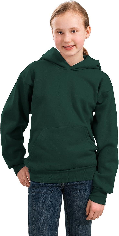 Port & Company PC90YH Youth Pullover Hooded Sweatshirt - Dark Green - XS