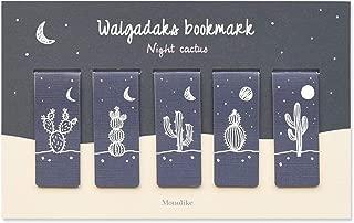Monolike Magnetic Bookmarks Night Cactus, Set of 5