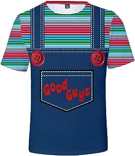Yagao Good Guys Chucky 3D Digital Printed Funny Hip Hop Short Sleeve T-Shirts for Men and Women