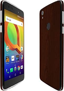 Skinomi Dark Wood Full Body Skin Compatible with Alcatel Idol 5S (Full Coverage) TechSkin with Anti-Bubble Clear Film Screen Protector