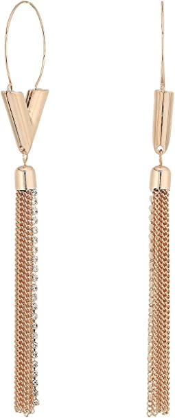 Chain Tassel Wire Earrings