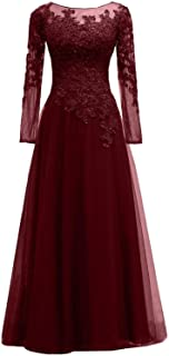 Women's Lace s Mother Of The Bride Dress Tulle Evening Prom Gown