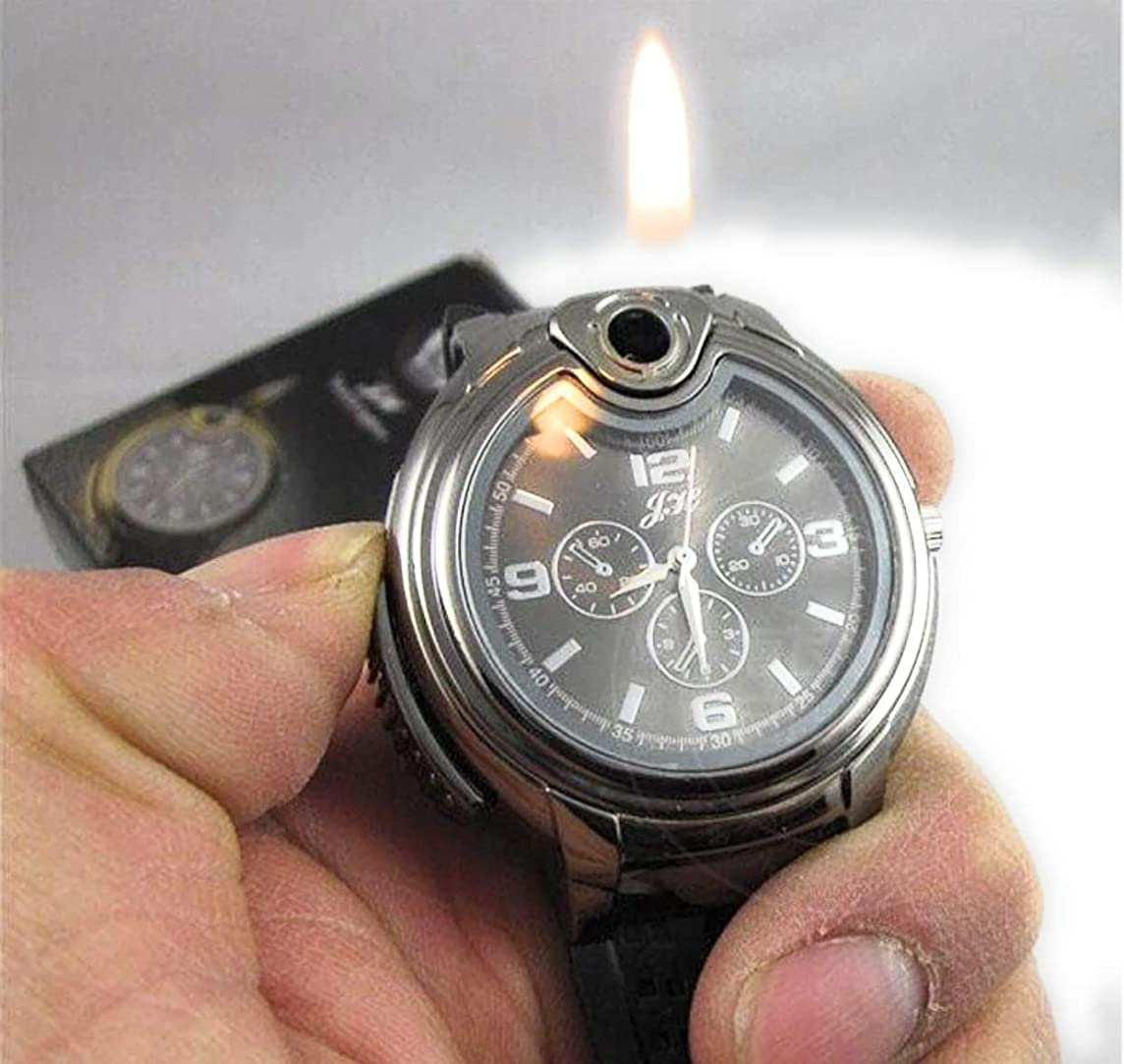 Cool Novel Watch Refillable Butane Gas Cigarette Cigar Lighter