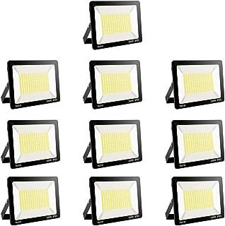 10 pack 200W Focos LED Exterior etc Garaje Iluminacion Exterior Floodlight Impermeable IP66 Blanco Fr/ío 6000K Angulo 120/º Led Projector Alto Brillo para Jard/ín F/ábrica Almac/én