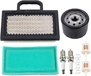 499486 Air Filter, for 698754 499486S Briggs and Stratton Oil Filter 795890 695396 Pre Filter 273638 273638S John Deere GY20575 LG499486S MIU11286 Lawn Mower Tune Up Kit