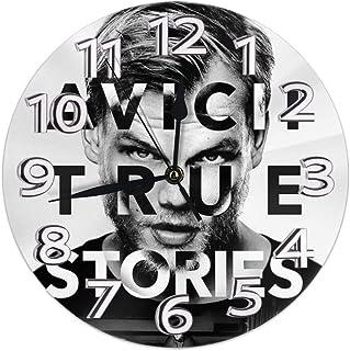 AVICII TRUE 掛け時計 インテリア 壁掛け時計 丸型 飾る時計 連続秒針 サイレント ウォールクロック デジタル コンパクト ウォールクロック