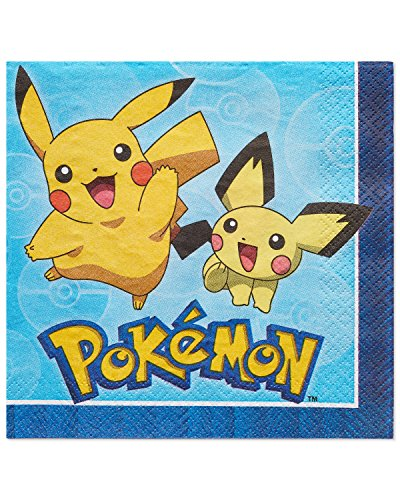 American Greetings Pokemon Paper Lunch Napkins for Kids (16-Count)