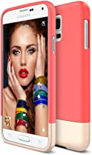 Galaxy S5 Case, Maxboost [Vibrance Series] Protective Soft-Interior Scratch Protection Vibrant Color[Slider Style] Cover for Samsung Galaxy S5 -Italian Rose/Champagne Gold