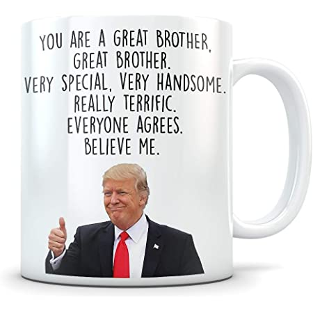 Funny Trump Mug For Brother Best Gifts For Brother You Are The Greatest Brother