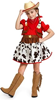 Fun Shack Roja Vaquera Disfraz para Mujeres