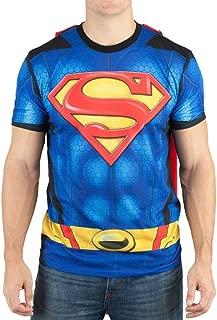 Superman Men's Sublimated T-shirt With Cape