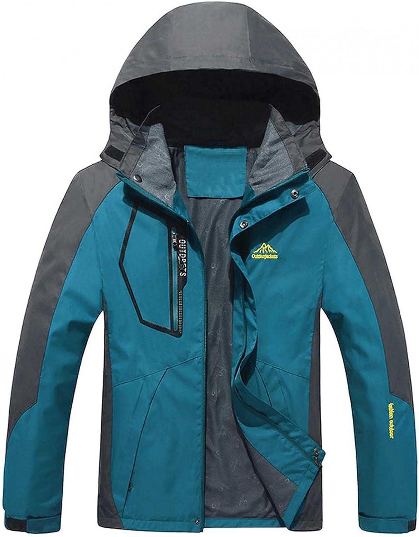 Plus Size Mens Lightweight Outdoors Hooded Jackets Casual Stylish Waterproof Hiking Raincoat Rain Jackets(L-9XL)