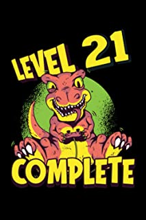 Level 21 Complete: Gaming Lined Notebook incl. Table of Contents on 120 Pages   Gaming Gamers Journal   Gift Idea for Game...