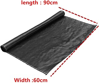 3K Black 2x2 Twill Weave Cloth Carbon Fiber Fabric 640KSI Tensile Strength 23.62x35.43 Inch for Automotive Parts