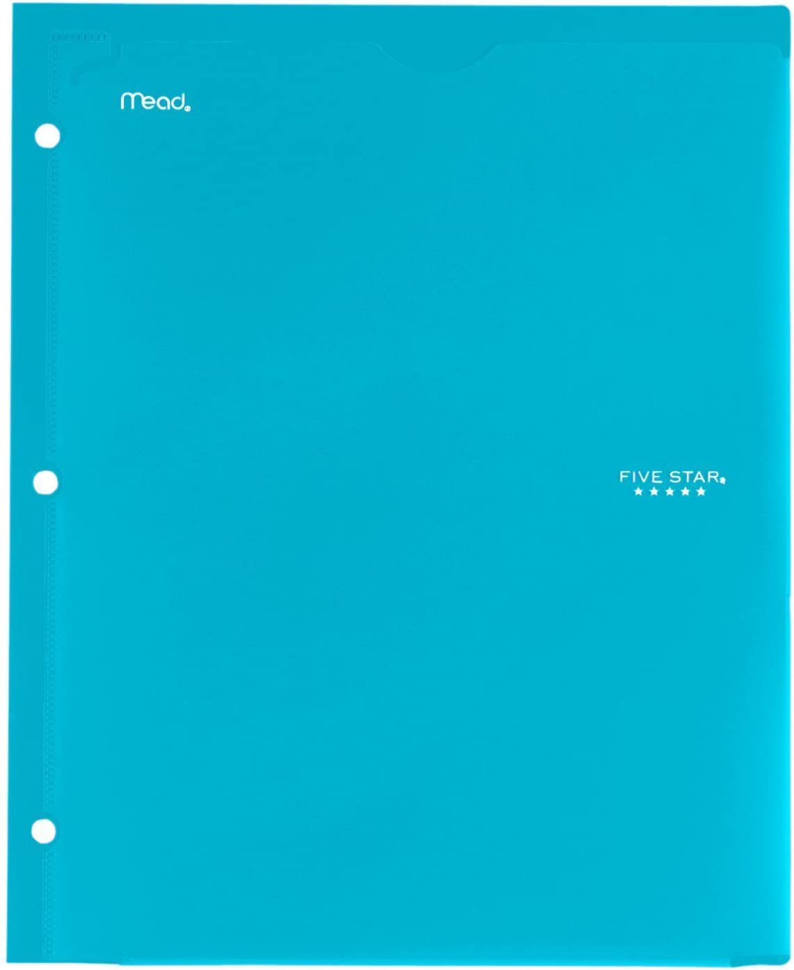 2 Pocket Folder Customizable Cover Black Folder with Pockets 38098 Plastic Green Fits 3 Ring Binder New Version 4 Pack Blue Red