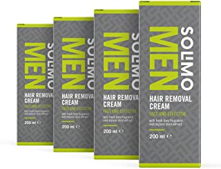 Marca Amazon - Solimo - MEN - Crema depilatoria para hombre