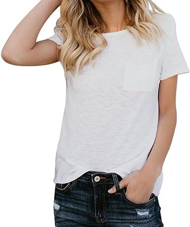 FAMILIZO Camisetas Blancas Mujer, Camisetas Mujer Manga Corta Blouse For Women Camisetas Mujer Verano Blusa Mujer Sport Tops Mujer Verano T Shirt ...